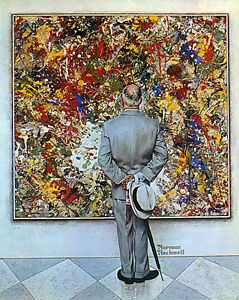 Abstract-and-Concrete-22x30-Art-Norman-Rockwell-Jackson-Pollock-expressionism