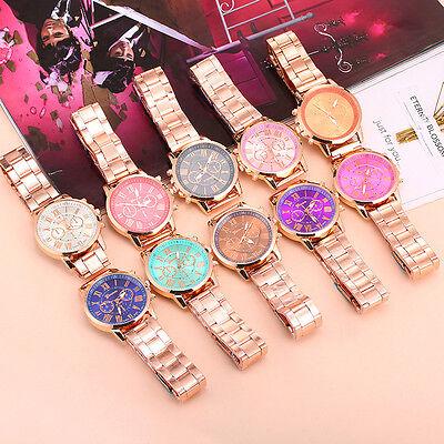 Geneva Luxury Women Bracelet Stainless Steel Analog Quartz Wrist Watch Watches