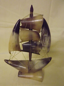 Boote & Schiffe Segelboot Aus Horn Sammler Boot