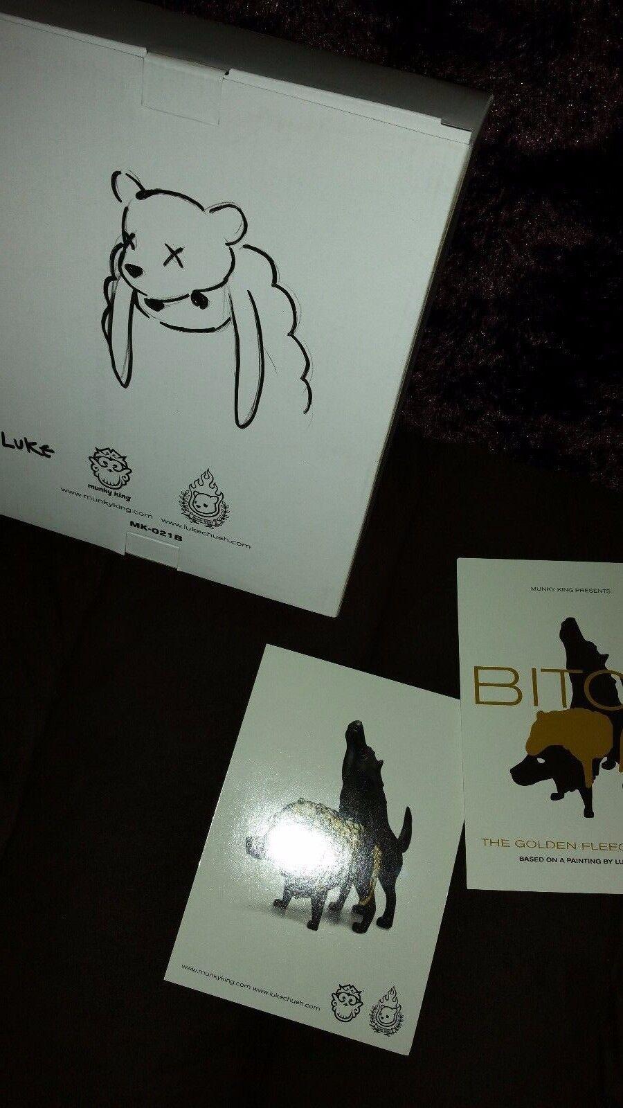 Luke Chueh BITCH gold Fleece Fleece Fleece Exclusive SDCC 2014 Munky King + 2 PC 150 Ed SIGNED 2a4e93