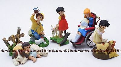 Heidi Girl of the Alps mini figure set of 5 official Kaiyodo Movic K&M Authentic