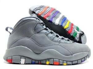 super popular ac6a4 6c43c Image is loading NIKE-AIR-JORDAN-10-RETRO-COOL-GREY-COOL-