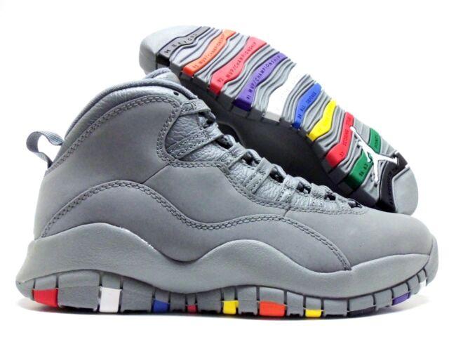 6b53d246f6e5 Air Jordan 10 X Retro Cool Grey Mens 310805-022 Grey Multi Color Shoes Size  7