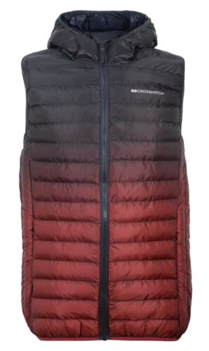 New Mens Crosshatch Padded Quilted Lined Bodywarmer Gilet Jacket Bubble Faded