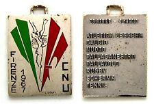 Medaglia Con Smalti C.N.U. Campionati Nazionali Universitari Firenze 1971 Atleti