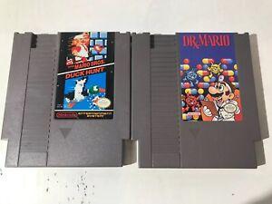 NES-Super-Mario-Bros-Duck-Hunt-amp-Dr-Mario-Nintendo-Lot-Of-2