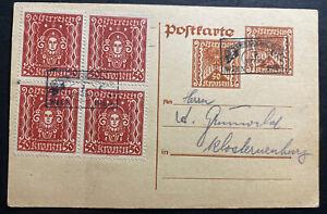 1923 Vienna German Austria Stationery Postcard Cover FDC Philatelic Fair