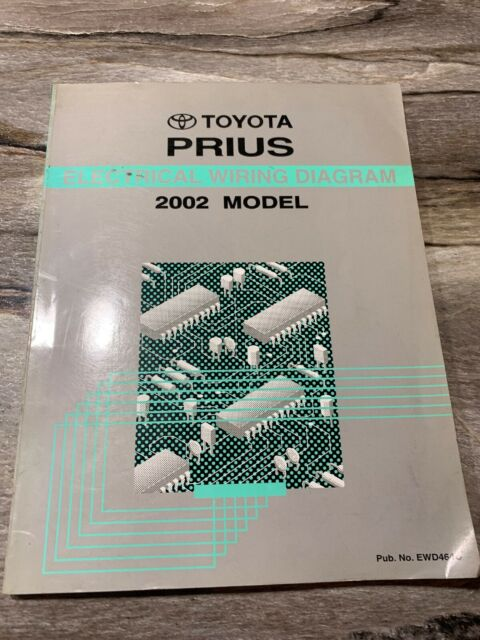 2002 Toyota Prius Electrical Wiring Diagram Manual Ewd