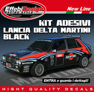 kit adesivi martini racing lancia delta hf integrale. Black Bedroom Furniture Sets. Home Design Ideas