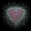 WOMEN/'S VALENTINE HEART LOVE TEE SHIRT SM 3XL LONG OR SHORT SLEEVE RHINESTONE