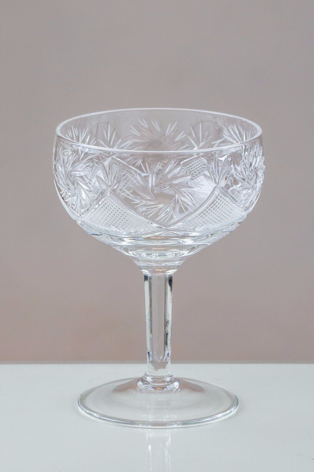 Thistledown 6 Coupe Platillos Champagne Cristal De Plomo 24% 100% hecho a mano