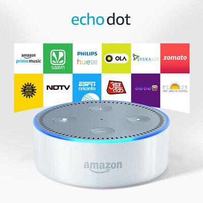 White Amazon Echo Dot Smart Speaker 2nd Generation