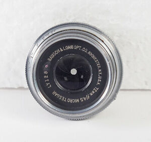 Bausch-amp-Lomb-72mm-F4-5-Micro-Tessar-LY-128-Rochester-NY-Coated