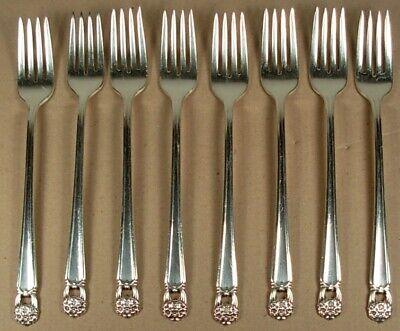 6 Dinner Forks 1847 Rogers ETERNALLY YOURS Vintage 1941 Silverplate Flatware Silverware Silver Plate