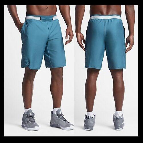 7109a29ae687 Nike Air Jordan Mid Flight Victory Basketball Shorts Blue 821917 2xl ...