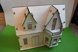 Wooden 3D Doll House Craft Kit Self-assembly Little Cottage Handmade Laser Cut