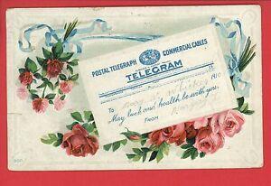 POSTAL-TELEGRAPH-TELEGRAM-POSTCARD-WHICKER-HORTONVILLE-INDIANA-1910