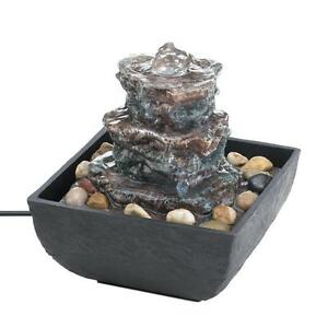 Exceptional Image Is Loading New Rock Tower Tabletop Water Fountain Indoor Pump