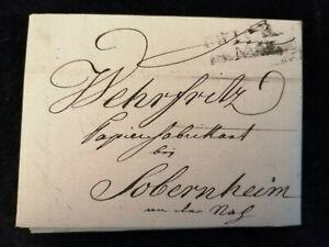 Vorphilatelie-Altdeutschland-1823-Brief-Faltbrief-WZ-Nr-19