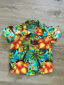 fdb058b98 Image is loading Hawaiian-Style-Kids-Boys-Shirts-Summer-Coconut-tree-