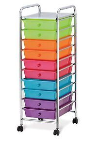 Image Is Loading Seville Classics  Drawer Organizer Cart With Drawers