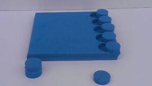 """1.75"""" Pouces Bleu En Néoprène Racine Clonage Garde Col Inserts - 100 Pack Bleu-afficher Le Titre D'origine Faire Sentir à La Facilité Et éNergique"""