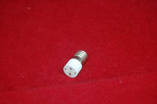 9mm 5PCS E10 LED BULB 220V AC Yellow COLOR  Base Dia