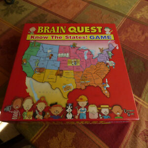 Brain Quest Know the States Board Game United Geography child ...