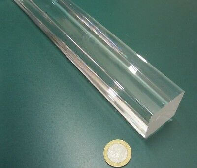 "1 Unit Clear 1.00/"" x 6 foot Lengths Acrylic Square Extruded Rods Bar"