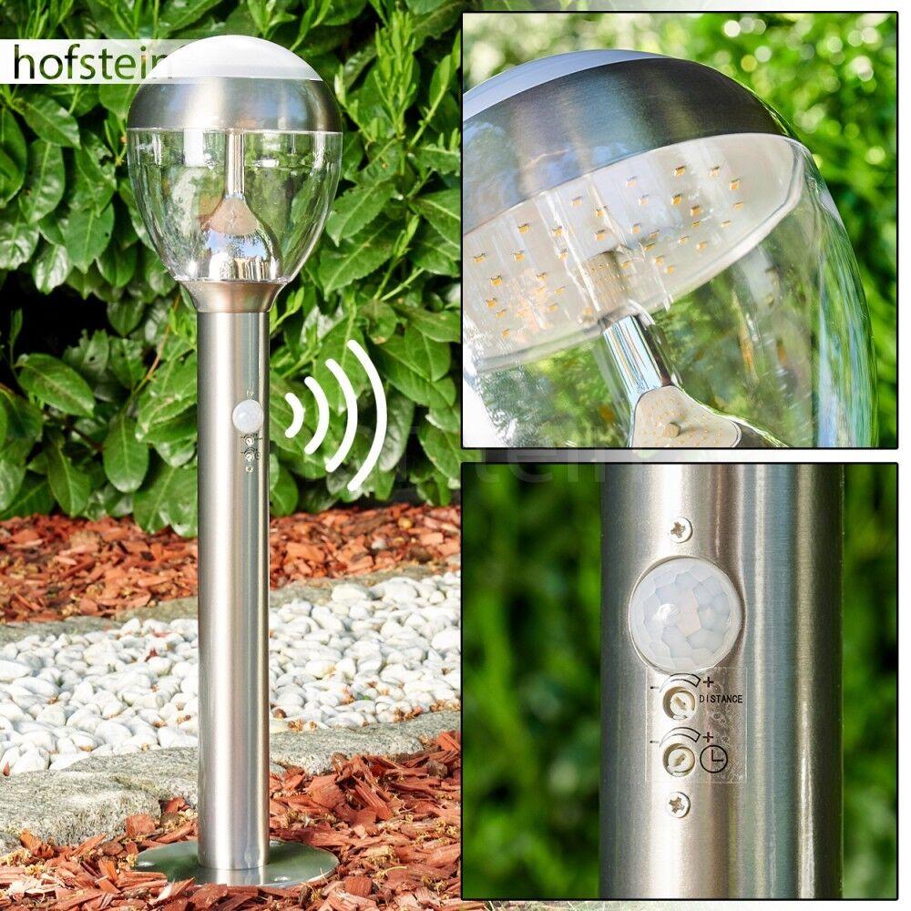 Außen Steh Beleuchtung LED Garten moderne Wege Lampen Bewegungsmelder Edelstahl