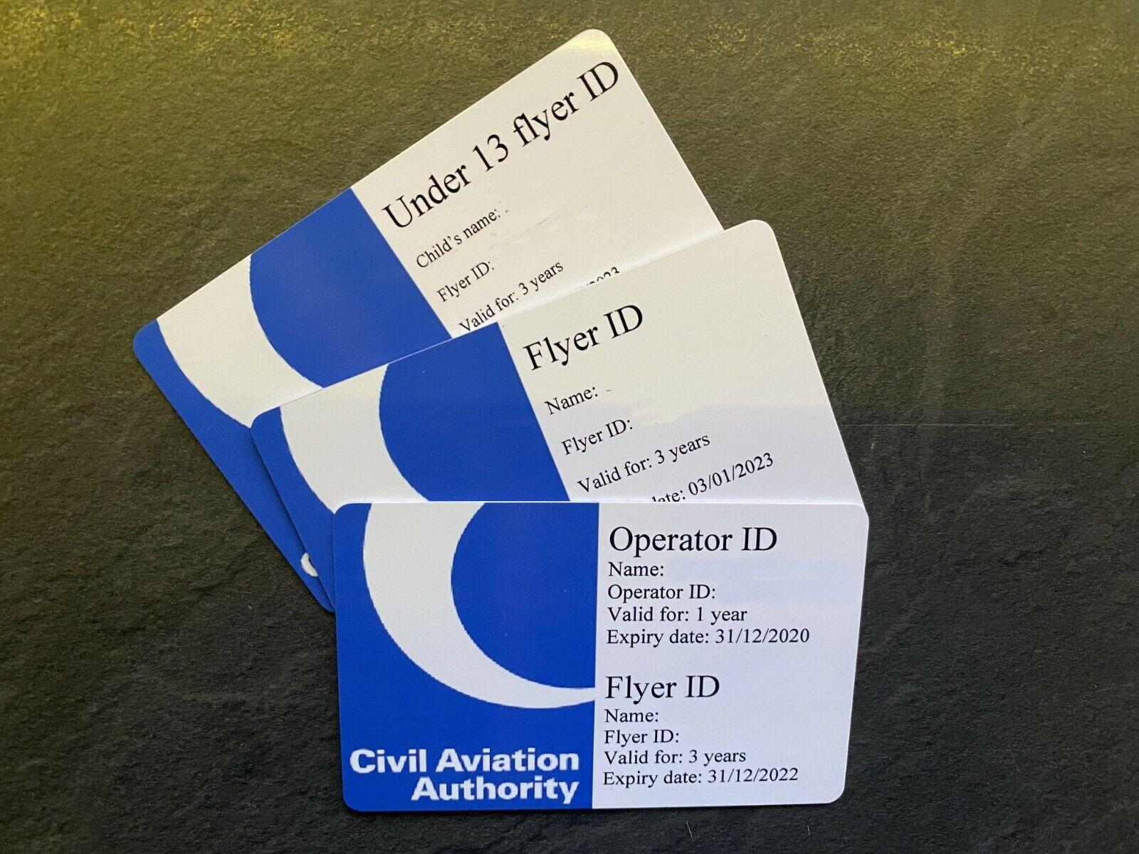 Drone ID Card - Operator ID Flyer ID Drone Pilot ID Card - CAA UAV Pilot ID