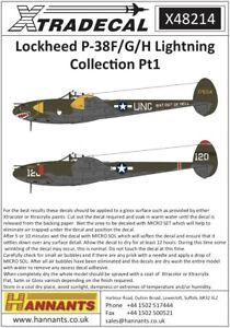 Xtradecal-1-48-Lockheed-P-38F-G-H-Rayo-Coleccion-Parte-1-48214