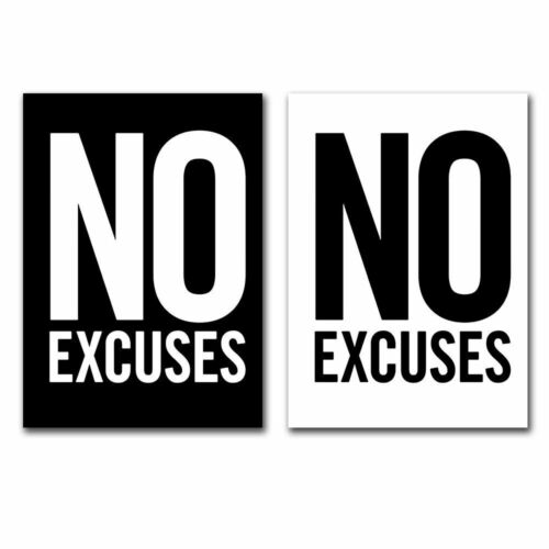 Nordic Poster Inspirational Quotes Canvas Painting No Excuses Art Posters Decors