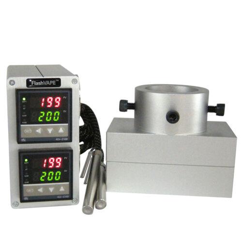 "FV ROSINTECH Rosin Press Dual Digital Temp Controller /& 3/""x5/"" Plates Set 20T Kit"