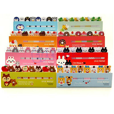 120 Pages Funny Animals Sticker Post-it Bookmark Marker Memo Index Sticky Note
