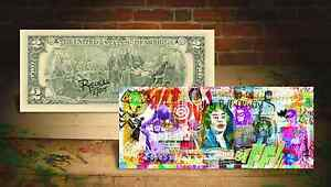 BATMAN * HOLY BILL OF RIGHTS * $2 Bill SIGNED & NUMBERED by RENCY of 215 Banksy