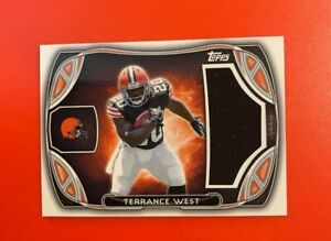 Details about 2014 Topps Terrance West Rookie Jumbo Jersey Relic