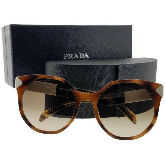 7d2df8b8b8ee7 PRADA 11ts Sunglasses Usg3d0 Brown 100 Authentic for sale online