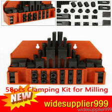 Metal Milling Machine Clamp Tool Clamping Bolt M12 T Nut Hold Down Kit 58pcs