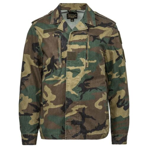 Alpha Industries Men F2 French Field Coat camo woodland camo