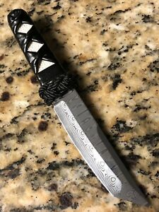 Eddleman-USA-Custom-Knife-Odin-s-Eye-Damasteel-Damascus-Katana-Rayskin-Leather