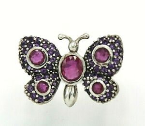 Ruby-Butterfly-Ring-Ruby-amp-Amethyst-16-5-mm-925-Sterling-Silver