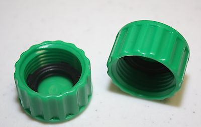 New Plastic Garden Hose End Caps Hose Terminators rubber washer NH Thread