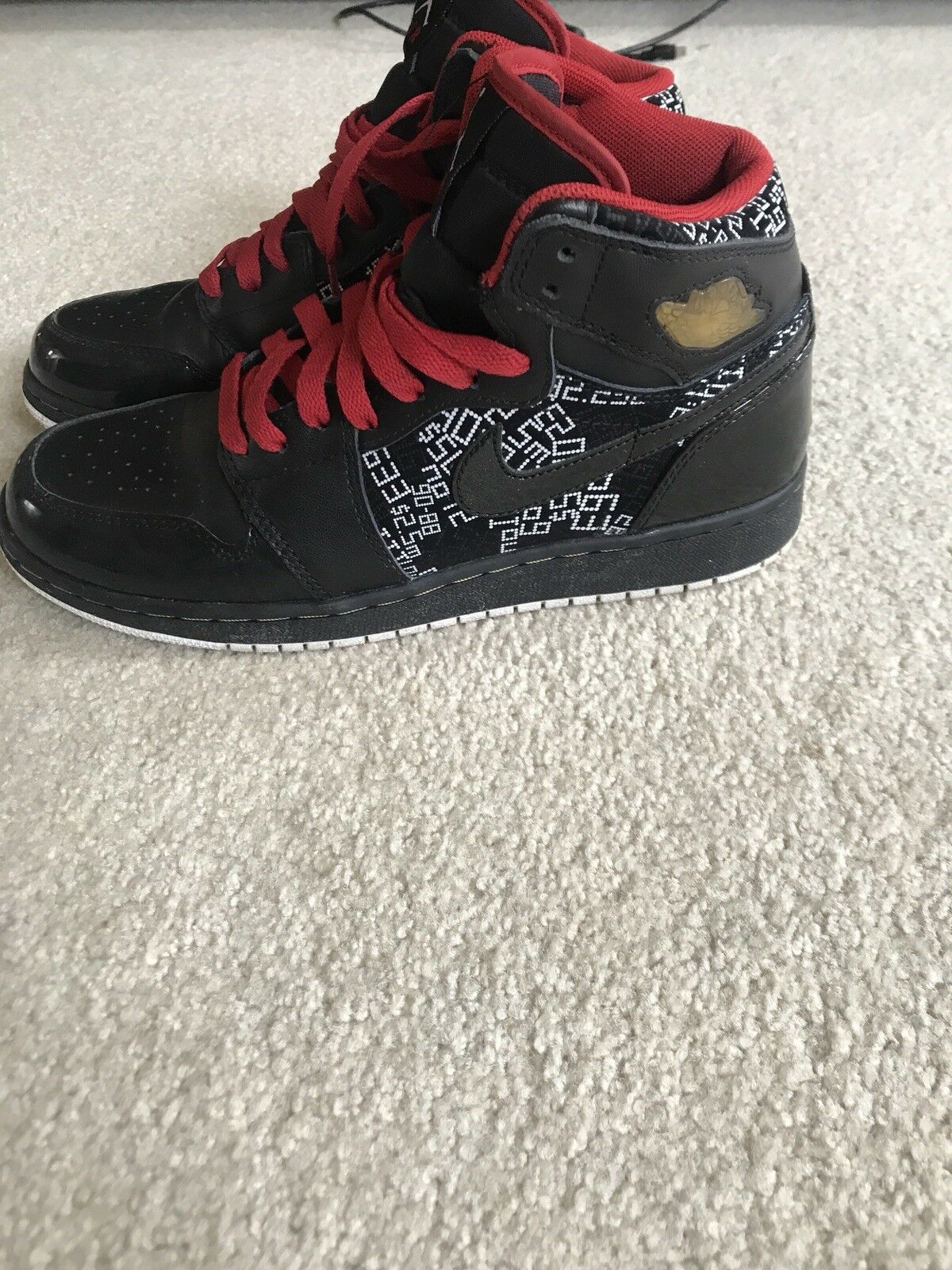 Air Jordan 1 Retro High Hall Of Of Of Fame Dimensione 6.5 nero Varsity rosso oro Metallic b03c7a