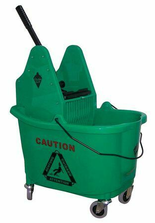 TOUGH GUY 5CJK3 Mop Bucket and Wringer,8-3//4 gal.,Green