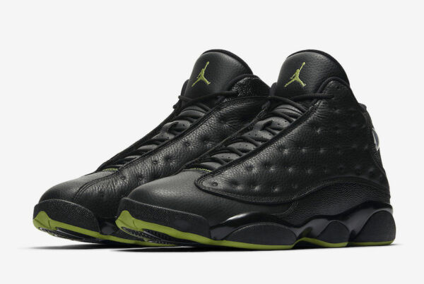 low priced 3c376 f67ae Nike Air Jordan 13 XIII Retro Altitude Size 9 Black Green 414571-042 for  sale online   eBay