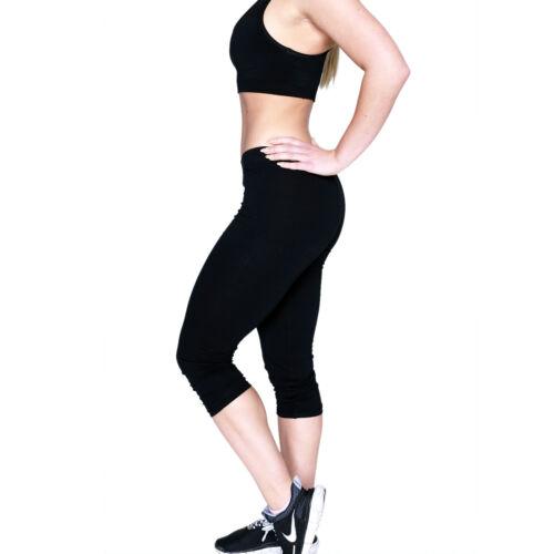 Damen 3/4 Leggings Hose  Capri Jogginghose Sporthose aus Baumwolle Yoga Weitere Sportarten