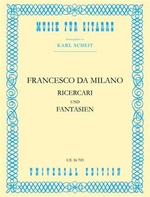 MILANO RICERCARI /& FANTASIEN S Gtr Francesco Canova da Milano for guitar 9790
