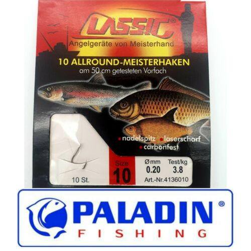 Paladin Allround-Hook Tippet hooks tied All Sizes 2,4,6,8,10,12