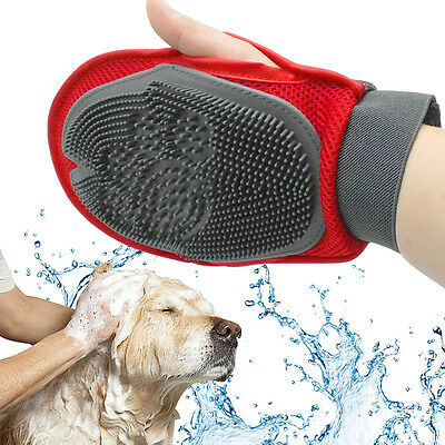 Cat Dog Mitt Glove Brush Comb Hair Pet Puppy Hair Grooming Massage Mitt Cleaning